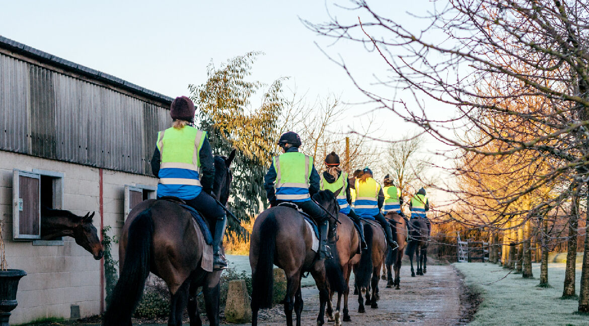 Hope Eden Racing Limited - Race Horse Syndicate - Horses being ridden by trainers in convoy